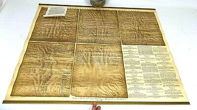 "1949 Ohman Co CONSTITUTION of USA 32"" x 27"" Reproduction Poster Sanitary Baking"