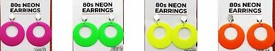 1980's Earrings Costume Accessories 80s 1980s Neon Fluro Earring Jewellery