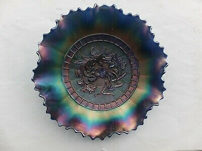 Vintage Dugan  Carnival Glass Plate Bowl