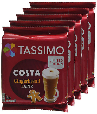 Tassimo Costa Gingerbread Latte Coffee Pods Pack Of 5 40