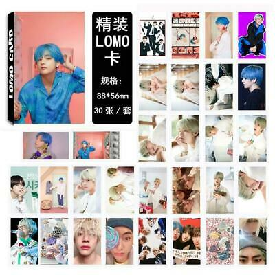 Kpop BTS V Map of The Soul Paper Lomo Photo Card New Album Photocard Poster