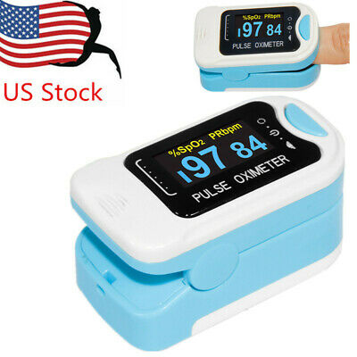US Finger Pulse Oximeter Blood Oxygen SpO2 Heart Rate Monitor Pouch&Lanyard
