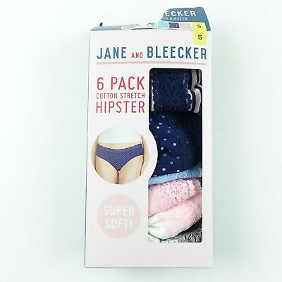 6fe0772726d7 Jane And Bleecker Women Cotton Stretch Hipster Lace Panties 6 Pack Size S