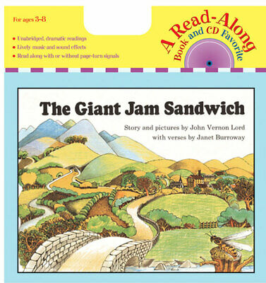 The Giant Jam Sandwich Read Along by Janet Burroway (Paperback & Audio CD)