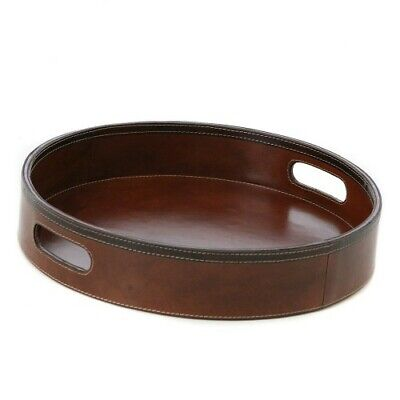 NEW Tan Leather Leather Tray - Kundra,Kitchen & Butler Trays