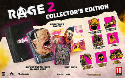 Rage 2 Collector's Edition Sony Ps4 English New Collectors Steelbook