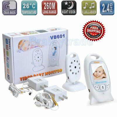 Wireless 2.4GHz Digital Color LCD Baby Monitor Camera Night Vision Audio Video T