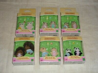 Six Sets Epoch Calico Critters Twins Misp Chipmunks Hamsters Dogs Pandas & More