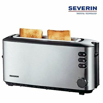 Severin Automatic Long Slot Toaster 2 Slice With Bun Warmer 1000W Steel AT2515