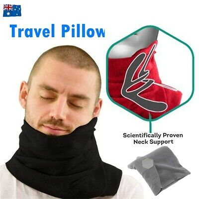 T-Pillow Portable Soft Comfortable Flight Travel Proven Neck Support Sitting Nap