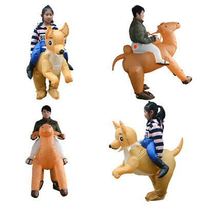 Adult Kid Inflatable Camel Dog Fancy Dress Costume Outfit Suit Halloween Stag