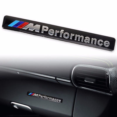 Autocollant Sticker 3D Metal M Performance Bmw En Aluminium Dim. 8,5 X 1,3 Cm