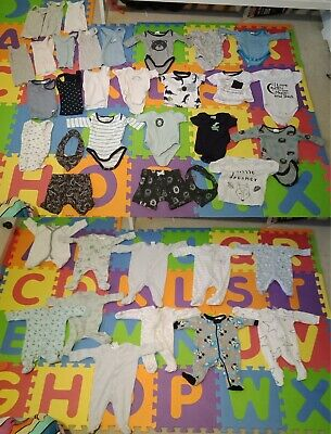 Baby Boys size 0000 Bulk Buy Mixed Clothes Clothing Bundle 39 items