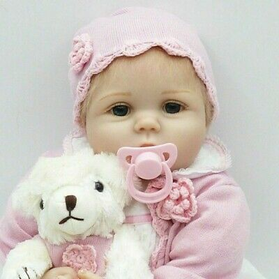 Realistic Lifelike 22 Inch 55cm Real Looking Reborn Baby Girl Doll Toddler