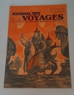 Journal Des Voyages (Spiral Bound No 12 Jeudi May 16th 1946