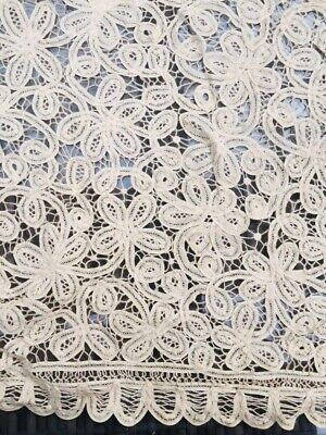 Vintage Fine Crochet Tablecloth 110cm X 110cm