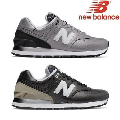 new balance 574 donna pelle bianche