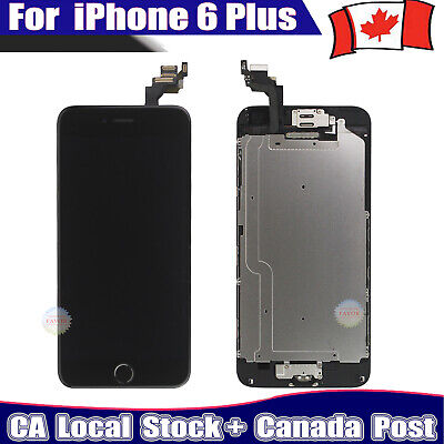 For iPhone 6 Plus LCD Screen Display Touch Digitizer Replacement + Camera Black