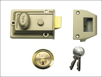 Yale Locks YAL77ENBPB P77 Traditionnel Verrou 60mm Appuie-Tête Laiton Nickel