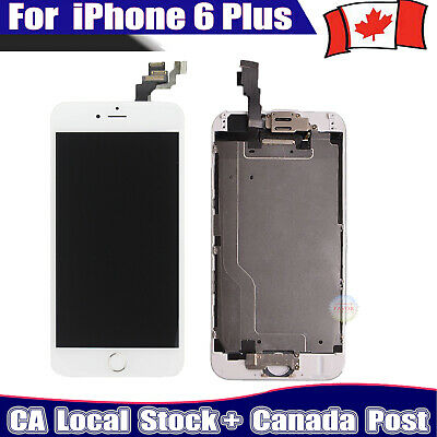 "White For iPhone 6 Plus 5.5"" LCD Replacement Screen Digitizer homebutton camera"