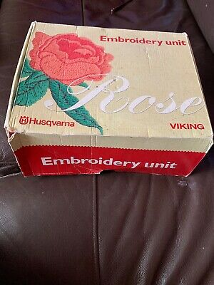 Husqvarna Viking Rose Embroidery Unit Boxed For Sewing Machine