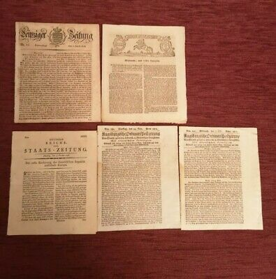 Germany Lot  of Newspaper,(1761-1812).