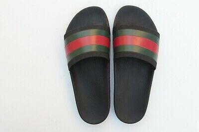 9f0d3db14 GUCCI WEB SLIDES Sandals Sz 9 Worn Once for 30 Minutes So ...
