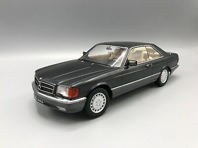 Mercedes 560 SEC (C126) 1985 metallic-anthrazit - 1:18 KK-Scale  *NEW*