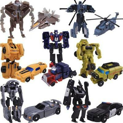 Mini Transformer Action Figures Kid Toy Optimus Prime Ironhide Bumble Bee Robots