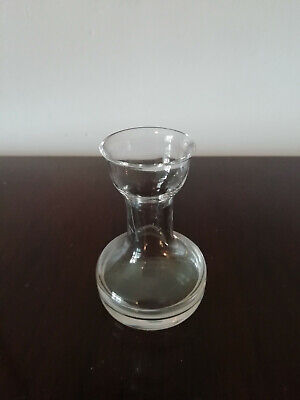 "10384) Little glass vase - pot? 2.75"" tall - posy vase? Clear glass - cute"