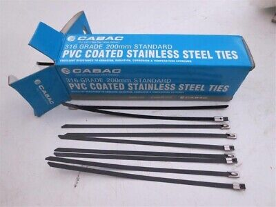 Cabac STFC200-316S Fully Coated 316 Stainless Steel Cable Ties 200mm (Box 100)