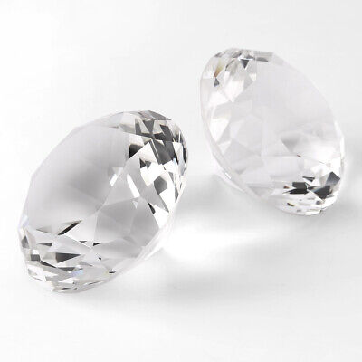 Clear Crystal Diamond Shaped Paperweights Cut Glass Home Jewelry Gifts 5pc