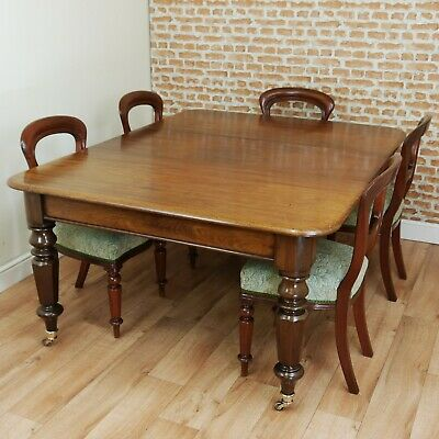 Antique Late Georgian Victorian Solid Mahogany 1 Leaf Pull Out Table C1830-1840