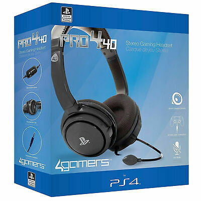 Official PRO4-40 Stereo Gaming Chat Headset with Mic BLACK (PS4) New and Sealed