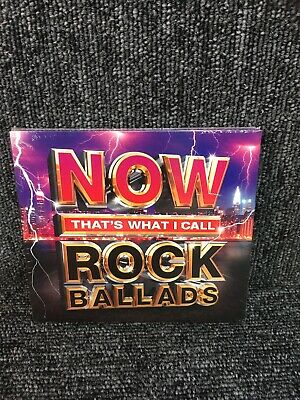 NOW THAT'S WHAT I CALL ROCK BALLADS [3 CD] NEW & SEALED. Freepost In Uk
