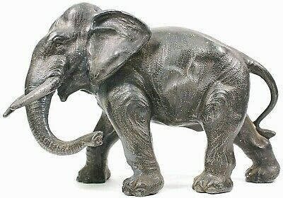 Antique Metal Spelter Elephant Figurine Circa 1900