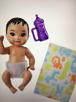 Barbie Mattel Skipper Babysitters Inc. Infant Asian Baby Doll Unopened Box
