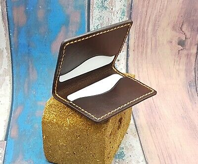 Leather Card Case/ Credit Card holder/Handmade/ Veg Tan Leather/Made to order