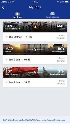 Flights From Stansted To Madrid (via Milan On The Return)