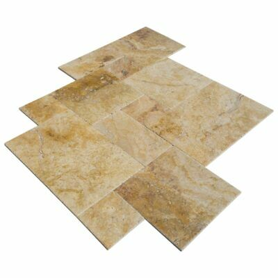 "Scabos Antique Pattern Travertine Tile - Sample Order 4""x4"""