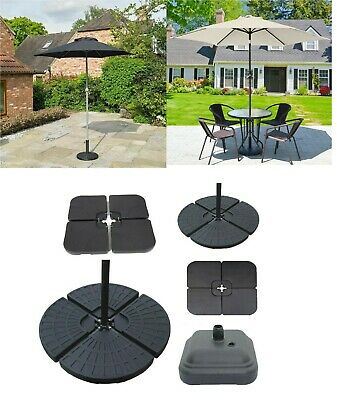 Square Grey Parasol Base Stand Weights for Banana Hanging Cantilever Umbrella ES