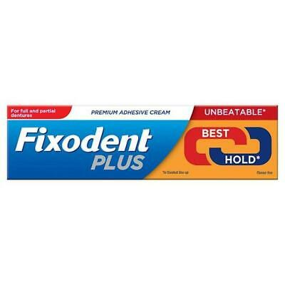 Fixodent Plus Dual Power Best Hold Full & Partial Denture Adhesive Cream 40g