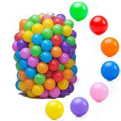 100 Secure Baby Kid Pit Toys Swim Soft 55mm Plastic Fun Colorful Ocean Balls TO