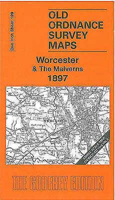 OLD ORDNANCE SURVEY MAP Worcester & The Malverns 1897: One Inch Sheet 199