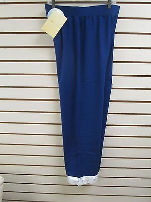 QVC ANYBODY Blue with Ribbon & Lace Lounge Pants, Size Medium - NWT