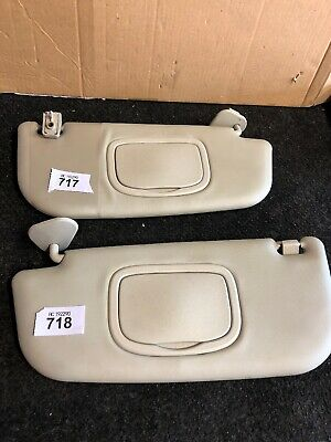 Alfa Romeo 147 2001-09 Both  Driver Passenger Side Sun Visor Light Grey Genuine