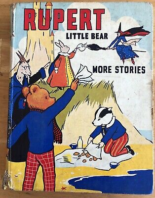 MARY TOURTEL LITTLE BEAR MORE STORIES 1939 Theatre Cut-Outs & Spine Intact VG