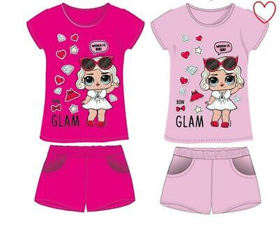 Girls Holiday Two Piece Set Beach Shorts Tee Character LOL Surprise