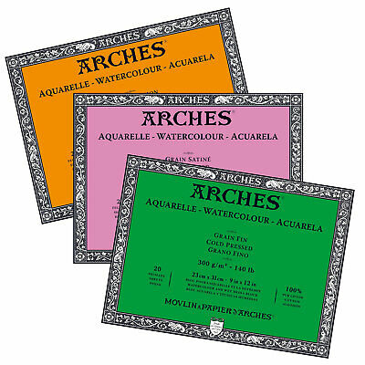 Arches Professional  High Quality Watercolour Paper Blocks 300gsm 23 x 31 cm
