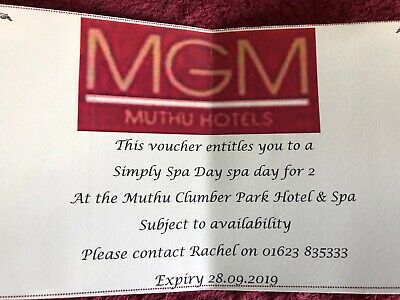 Simply Spa Day For 2 Persons Voucher At Mutha Clumber Park Hotel & Spa - Worksop